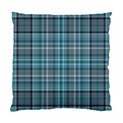 Teal Plaid Standard Cushion Case (two Sides)