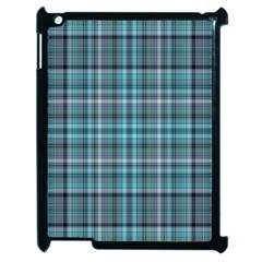 Teal Plaid Apple Ipad 2 Case (black) by snowwhitegirl