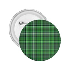 Green Plaid 2 25  Buttons