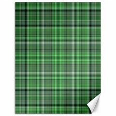 Green Plaid Canvas 12  X 16