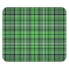 Green Plaid Double Sided Flano Blanket (small)