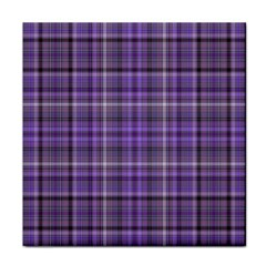 Purple  Plaid Tile Coasters