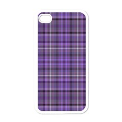 Purple  Plaid Apple Iphone 4 Case (white)