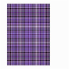 Purple  Plaid Small Garden Flag (two Sides)