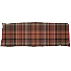 Peach  Plaid Body Pillow Case Dakimakura (two Sides)