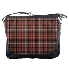 Peach  Plaid Messenger Bag