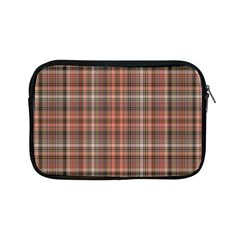 Peach  Plaid Apple Ipad Mini Zipper Cases
