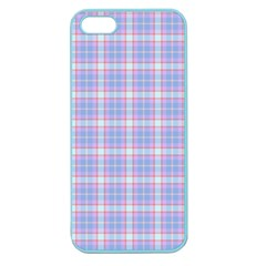Pink Blue Plaid Apple Seamless Iphone 5 Case (color)