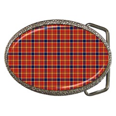 Red Yellow Plaid Belt Buckles