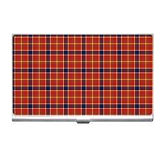 Red Yellow Plaid Business Card Holders