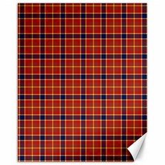 Red Yellow Plaid Canvas 16  X 20