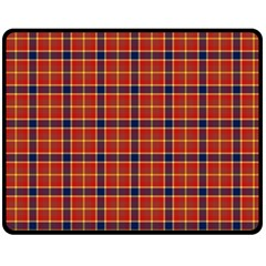 Red Yellow Plaid Fleece Blanket (medium)