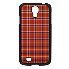 Red Yellow Plaid Samsung Galaxy S4 I9500/ I9505 Case (black)
