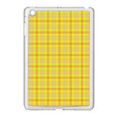 Yellow Sun Plaid Apple Ipad Mini Case (white)