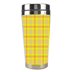 Yellow Sun Plaid Stainless Steel Travel Tumblers