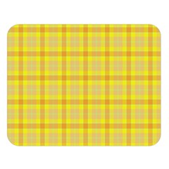 Yellow Sun Plaid Double Sided Flano Blanket (large)
