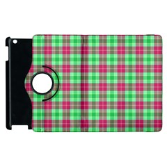 Pink Green Plaid Apple Ipad 2 Flip 360 Case by snowwhitegirl