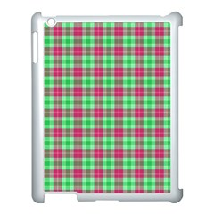Pink Green Plaid Apple Ipad 3/4 Case (white)