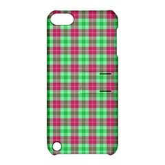 Pink Green Plaid Apple Ipod Touch 5 Hardshell Case With Stand by snowwhitegirl