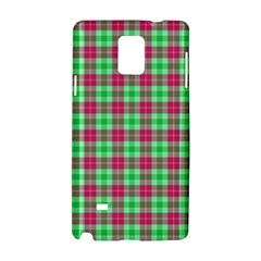 Pink Green Plaid Samsung Galaxy Note 4 Hardshell Case