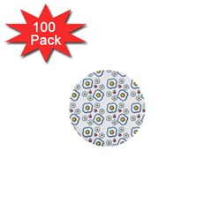 Eggs White 1  Mini Buttons (100 Pack)