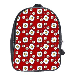 Eggs Red School Bag (large)