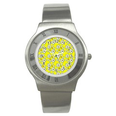 Eggs Yellow Stainless Steel Watch