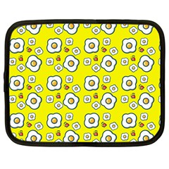 Eggs Yellow Netbook Case (large)
