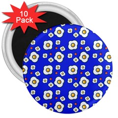 Eggs Blue 3  Magnets (10 Pack)