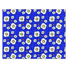 Eggs Blue Rectangular Jigsaw Puzzl by snowwhitegirl
