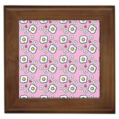 Eggs Pink Framed Tiles