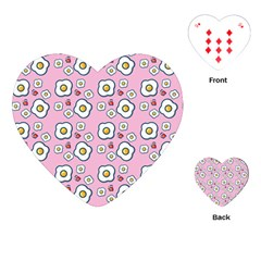 Eggs Pink Playing Cards (heart)