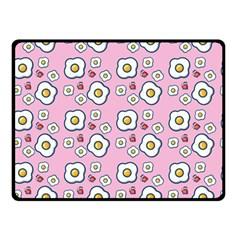 Eggs Pink Double Sided Fleece Blanket (small)  by snowwhitegirl