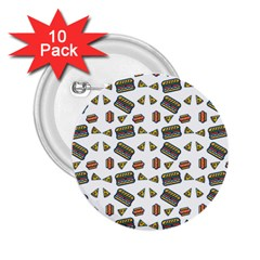 Fast Food White 2 25  Buttons (10 Pack)
