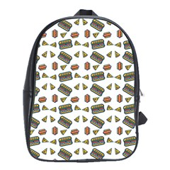 Fast Food White School Bag (large)