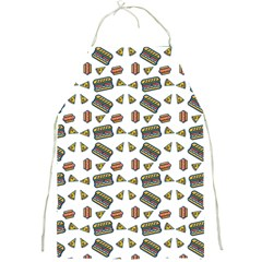 Fast Food White Full Print Aprons