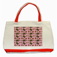 Fast Food Pink Classic Tote Bag (red)