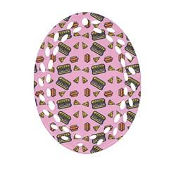 Fast Food Pink Ornament (oval Filigree)