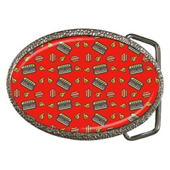 Fast Food Red Belt Buckles