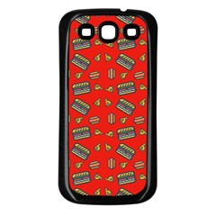 Fast Food Red Samsung Galaxy S3 Back Case (black)