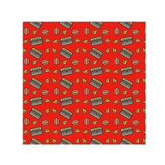 Fast Food Red Small Satin Scarf (square)