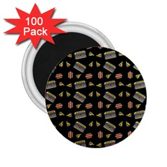 Fast Food Black 2 25  Magnets (100 Pack)