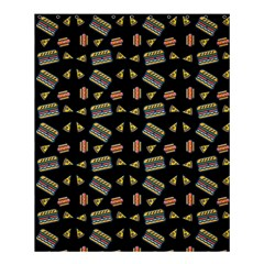 Fast Food Black Shower Curtain 60  X 72  (medium)