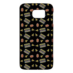 Fast Food Black Samsung Galaxy S6 Hardshell Case