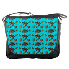 Fast Food Blue Messenger Bag