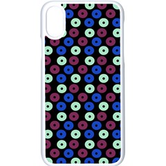 Eye Dots Blue Magenta Apple Iphone X Seamless Case (white)