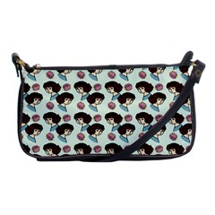 Redhead Girl Blue Shoulder Clutch Bag