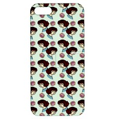 Redhead Girl Blue Apple Iphone 5 Hardshell Case With Stand