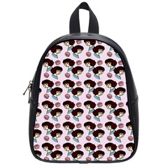 Redhead Girl Pink School Bag (small)