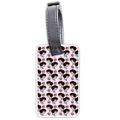 Redhead Girl Pink Luggage Tags (two Sides)